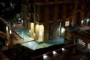 Urban Residential Moat, Night