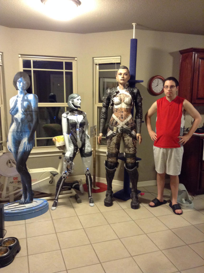 Mass Effect 3 EDI, Jack, and Cortana by tankball