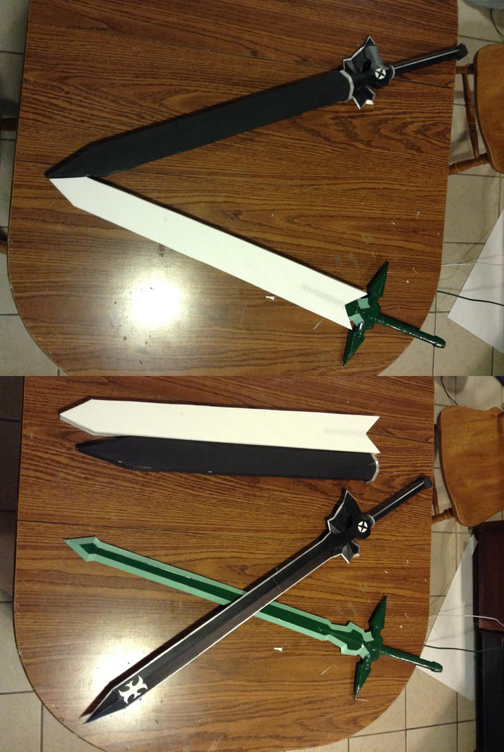 Kirito's Swords by tankball