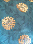 Blue and Gold Floral Texture