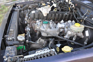 1998 Jeep engine driver side components removed