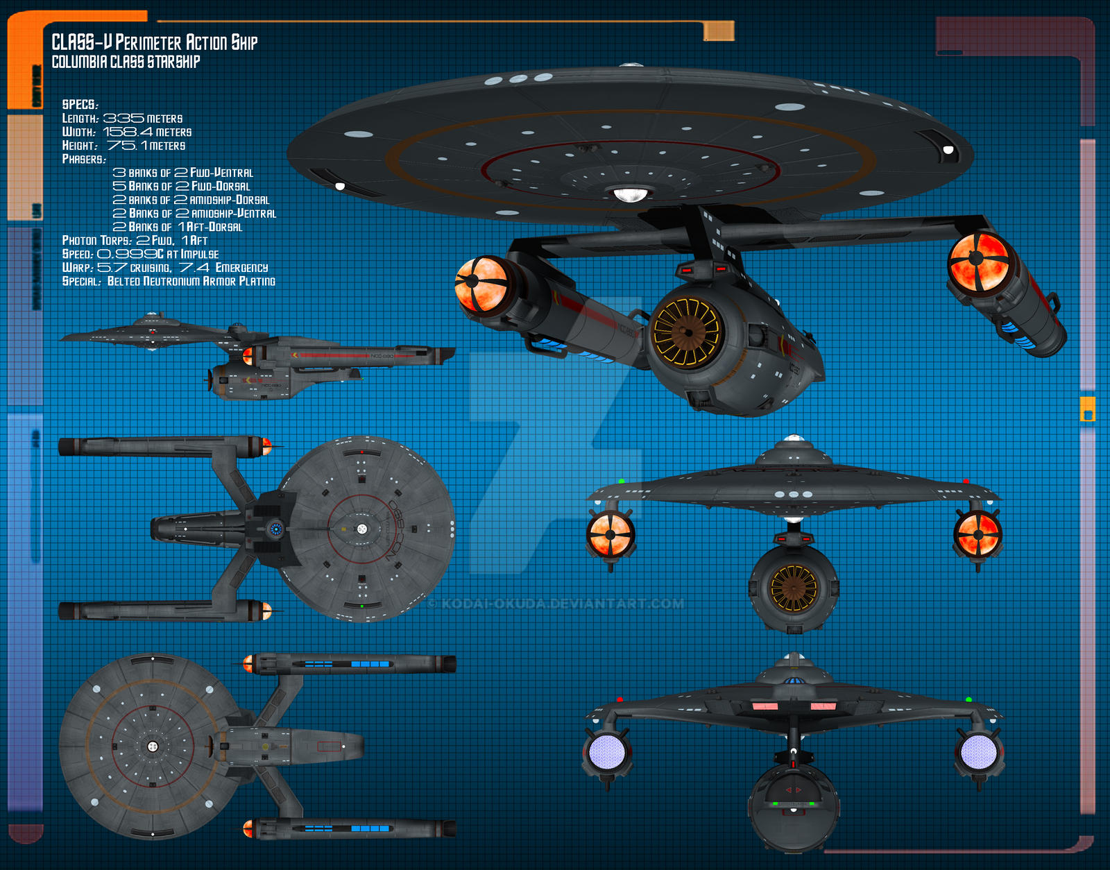 USS Columbia Data Sheet by Kodai-Okuda