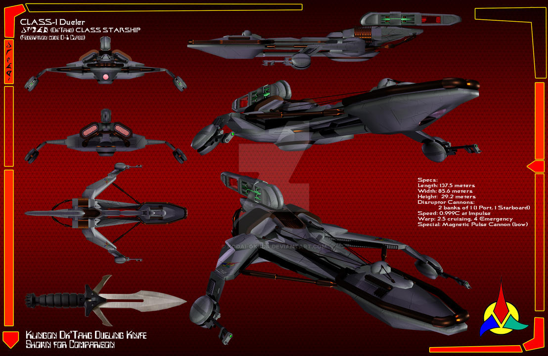 Klingon D-1 Dk'Tahg Dueler by Kodai-Okuda