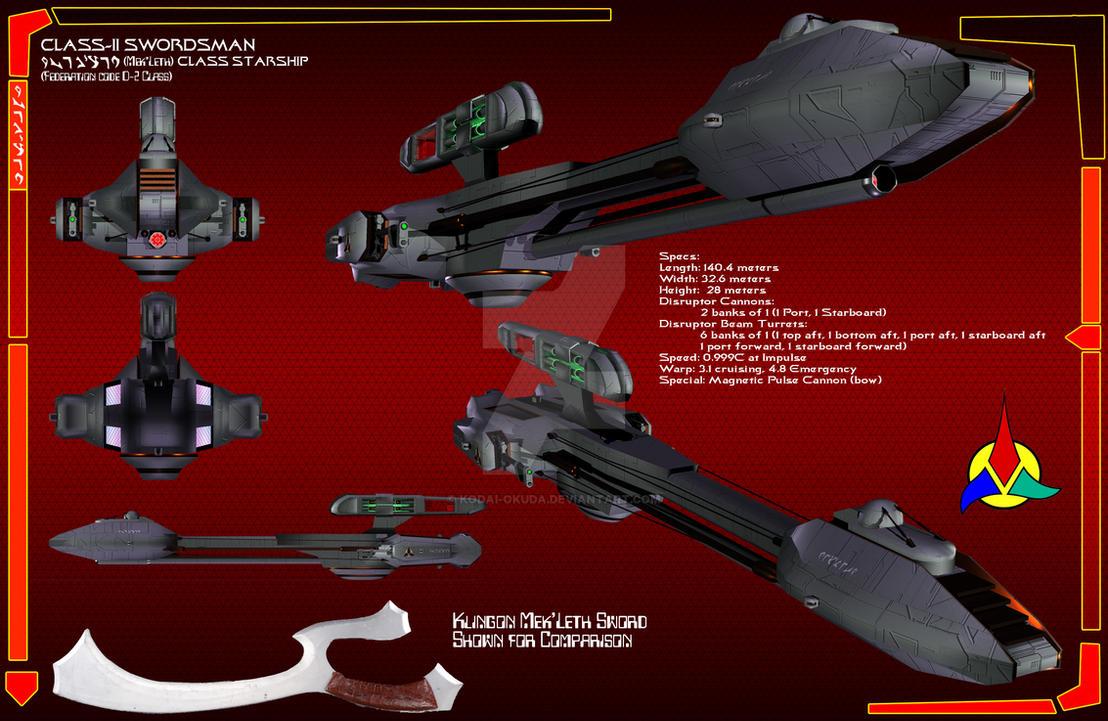 Klingon D-2 Swordsman by Kodai-Okuda