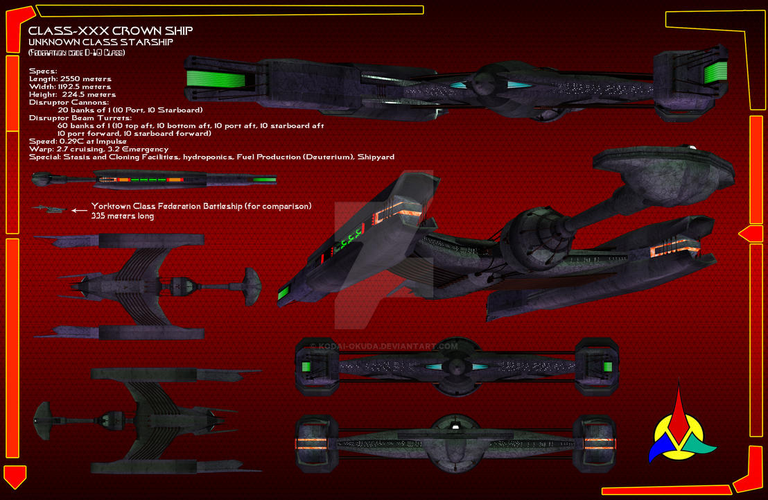 Klingon Crown Ship Data sheet by Kodai-Okuda