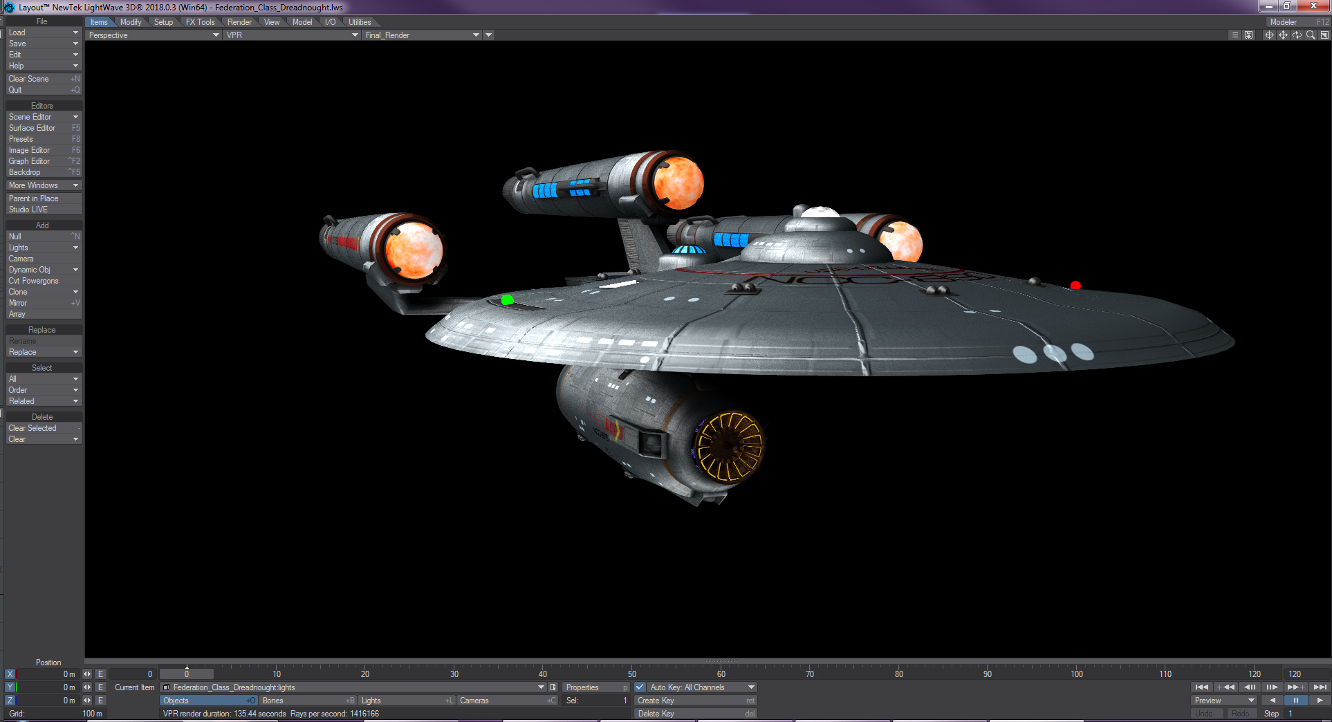 Federation Dreadnought Working