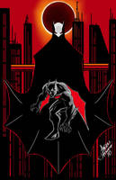 Batman beyond Blood Moon by AndrewFroedge