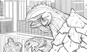 Gamera with City background