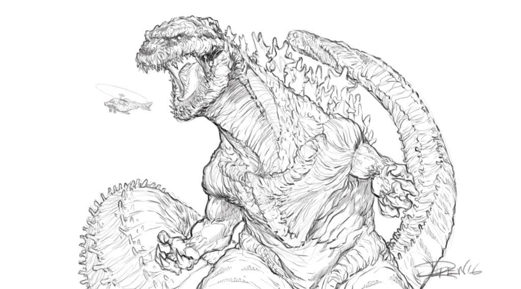 Godzilla Resurgence by AndrewFroedge