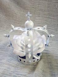 White Gothic Lolita Mini Crown by apatico