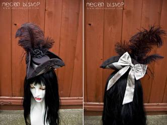 Black x Silver Mini Tricorn by apatico