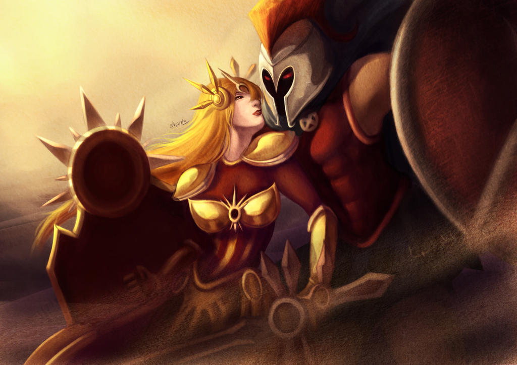 Pantheon and Leona by Beverii on DeviantArt