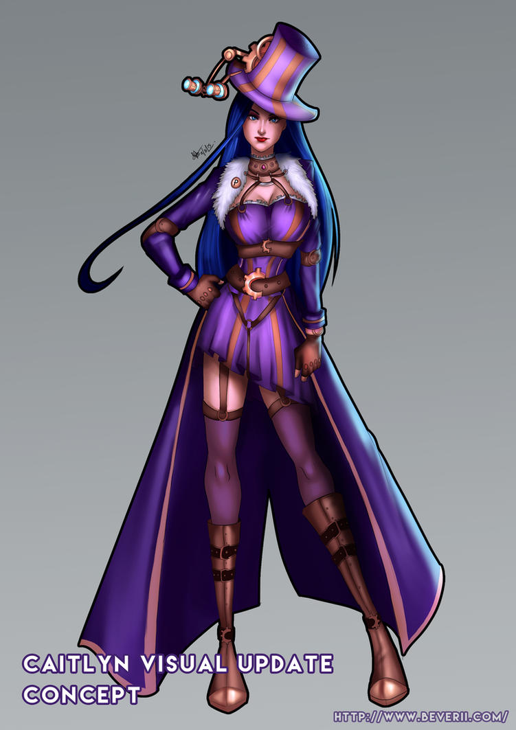 Caitlyn Visual Update Concept by Beverii