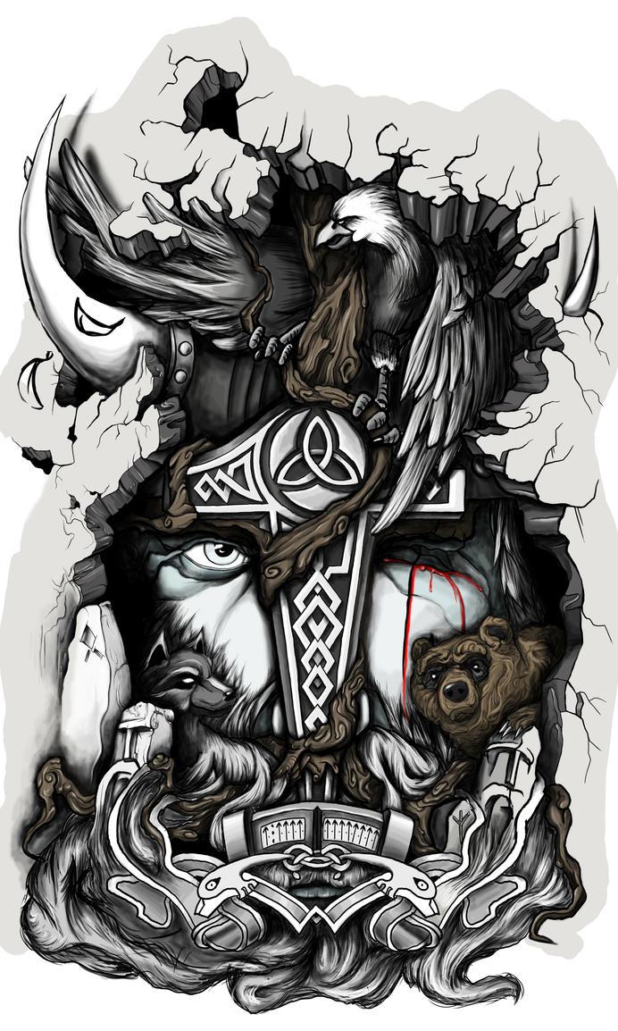 Tatto Odin by Mstibog on DeviantArt