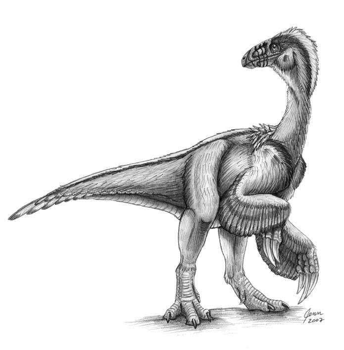 Beipiaosaurus by SageKorppi