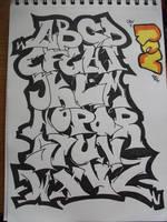 Graffiti Alphabet by replicamask