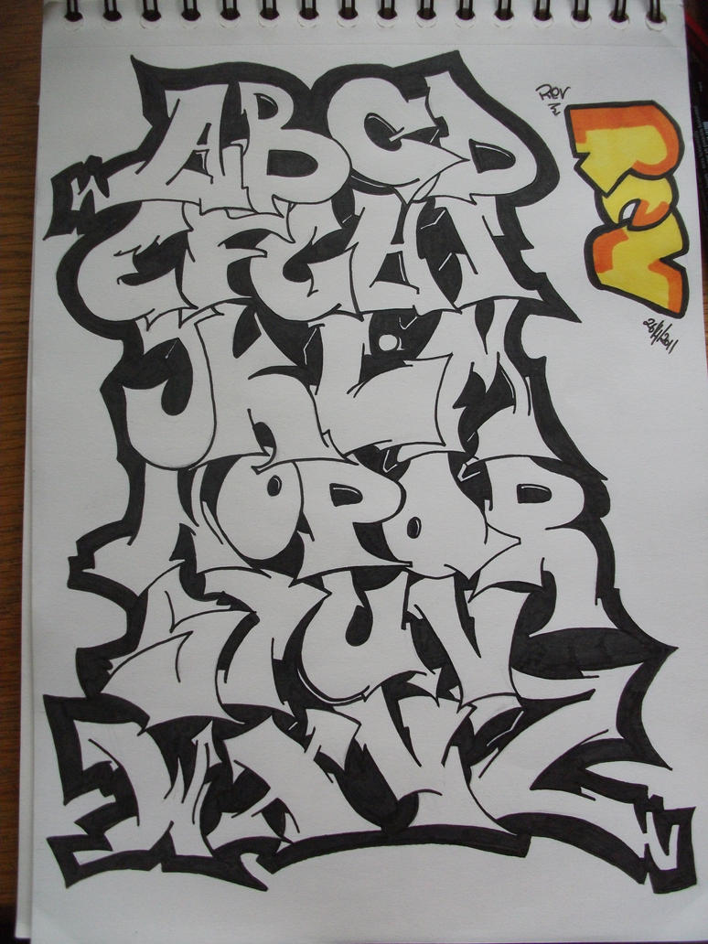 Graffiti Alphabet by replicamask on DeviantArt