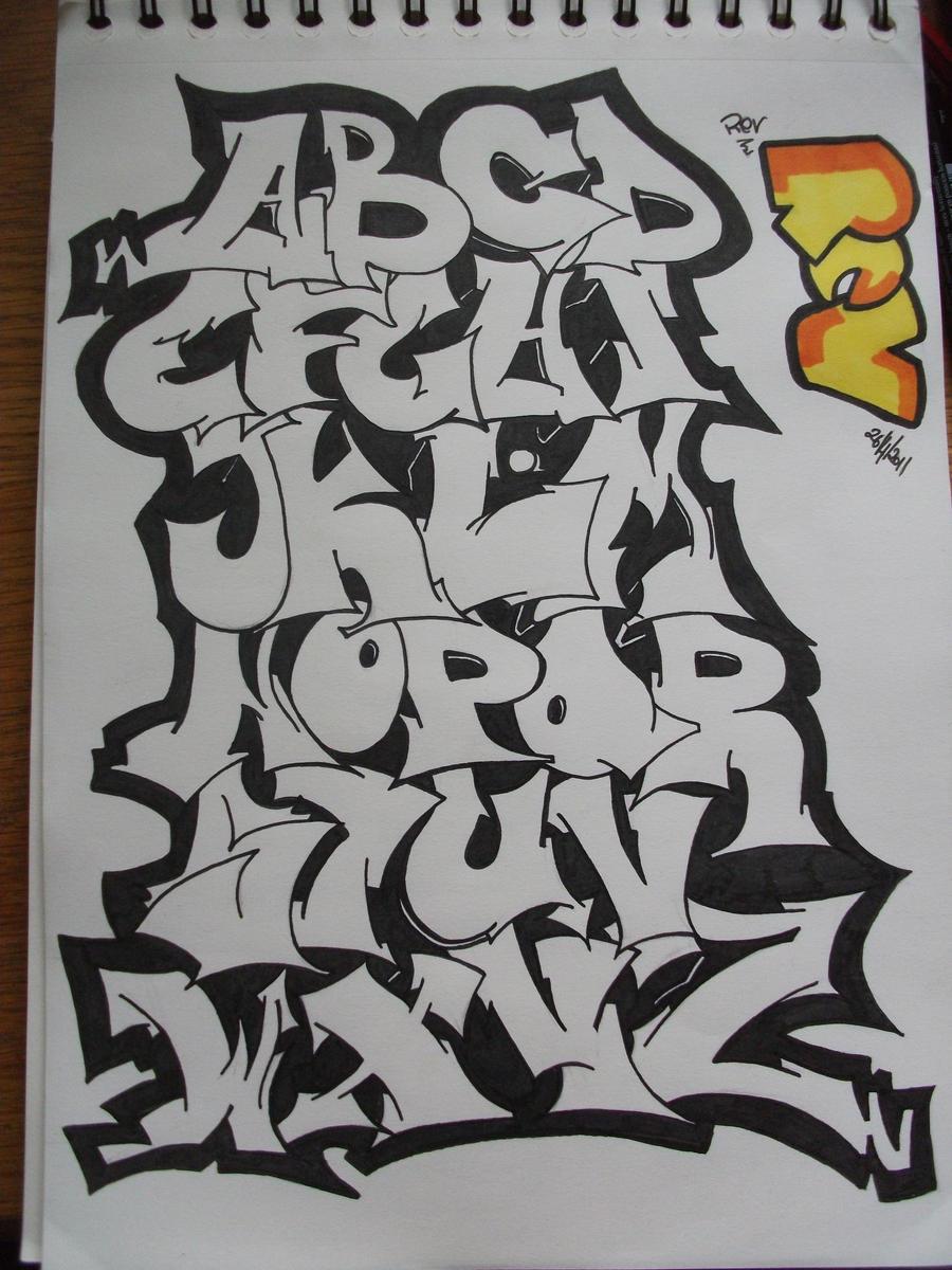 graffiti alphabet: