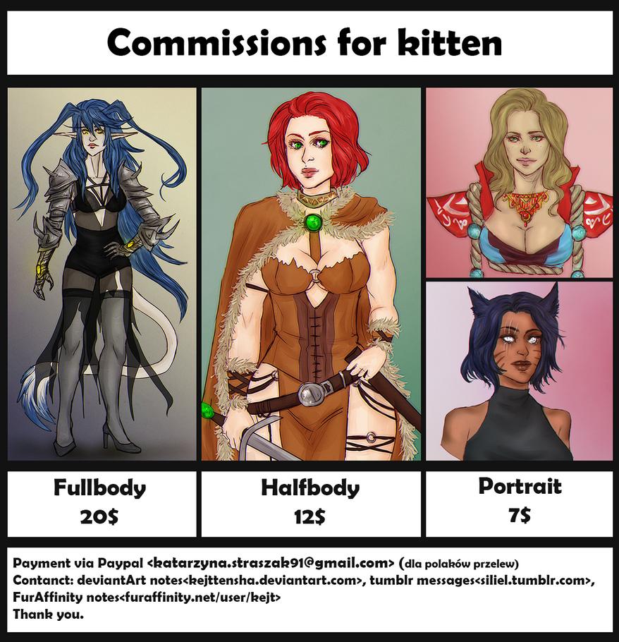 Commissions For Kitten by kejtTENSHA