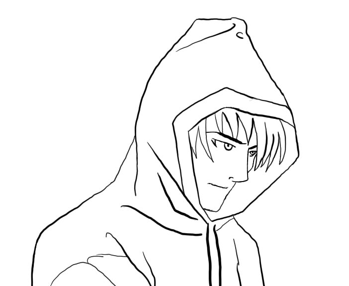 Manga Boy free Outline by BlackLightning95 on DeviantArt