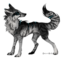 Wolf adopt/CLOSED by BlackLightning95