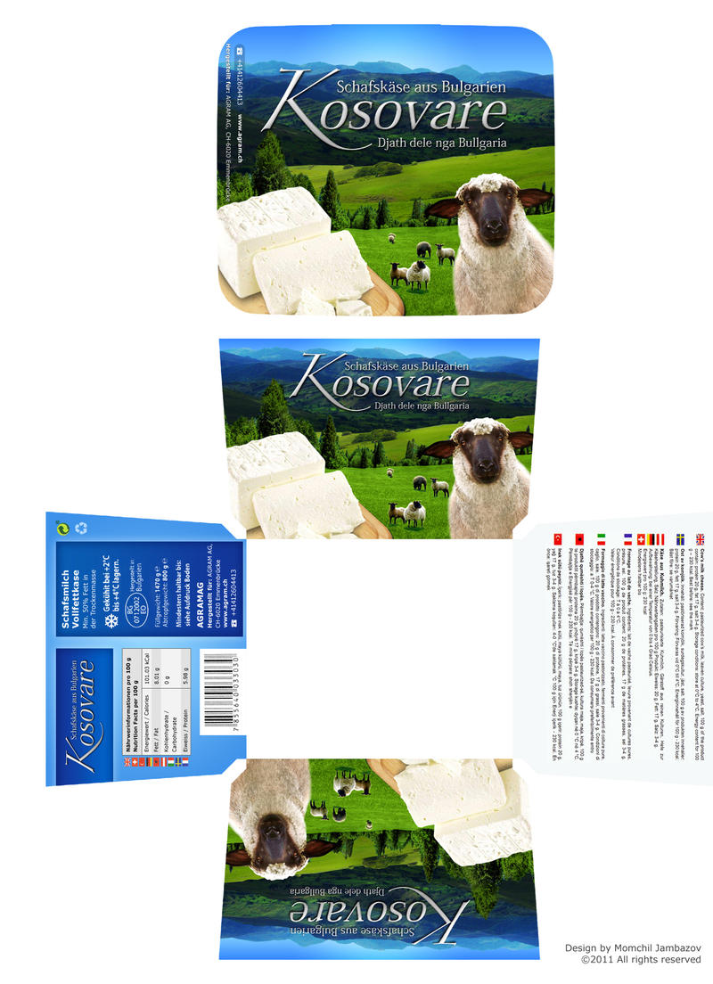 White Sheep Cheese - Box Design by Jambazov