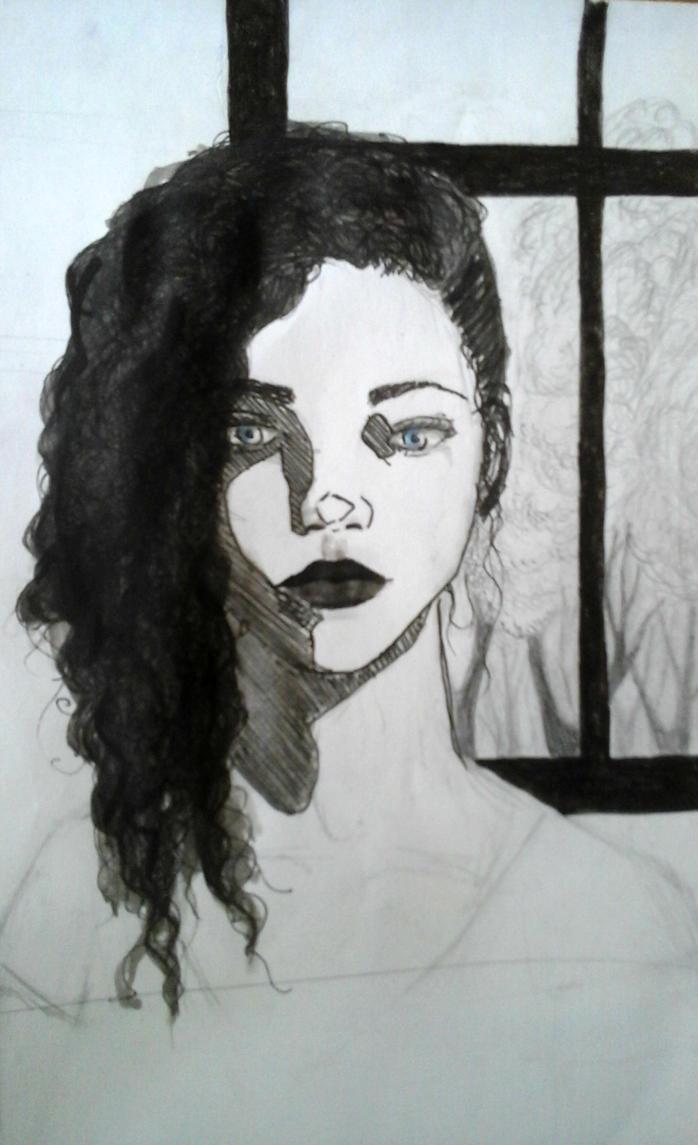 BW girl by EleftheriaLiberation