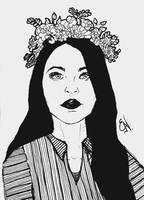 Dark lipstick - Inktober #14 by EleLibe