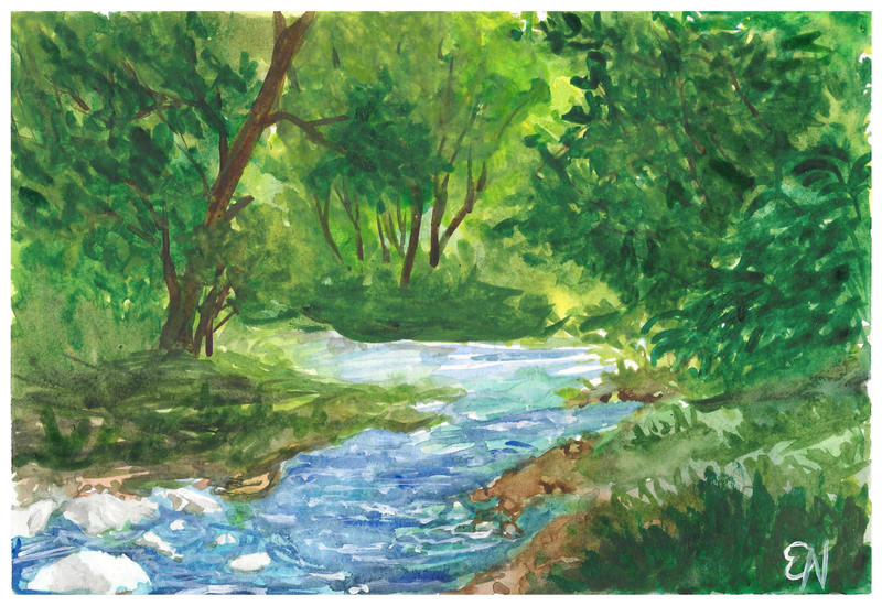 River in a Forest by EleLibe