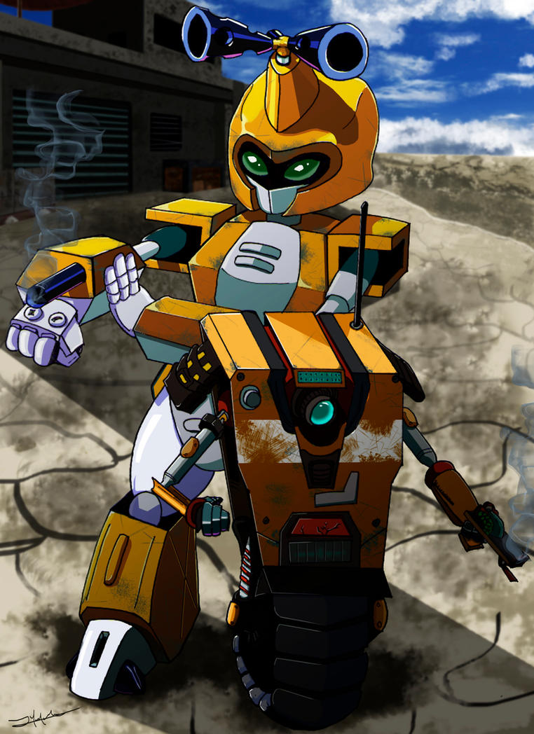 Metabee and Claptrap by Maxlanz