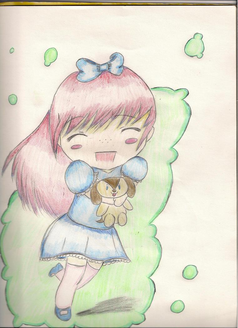 Happy chibi girl! by beatlesfan687 on deviantART