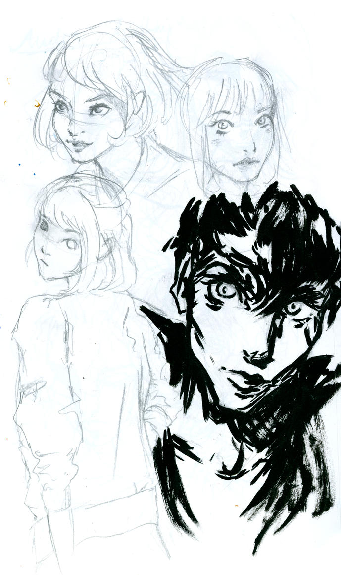 Face-Style Scribbles by Lythiah