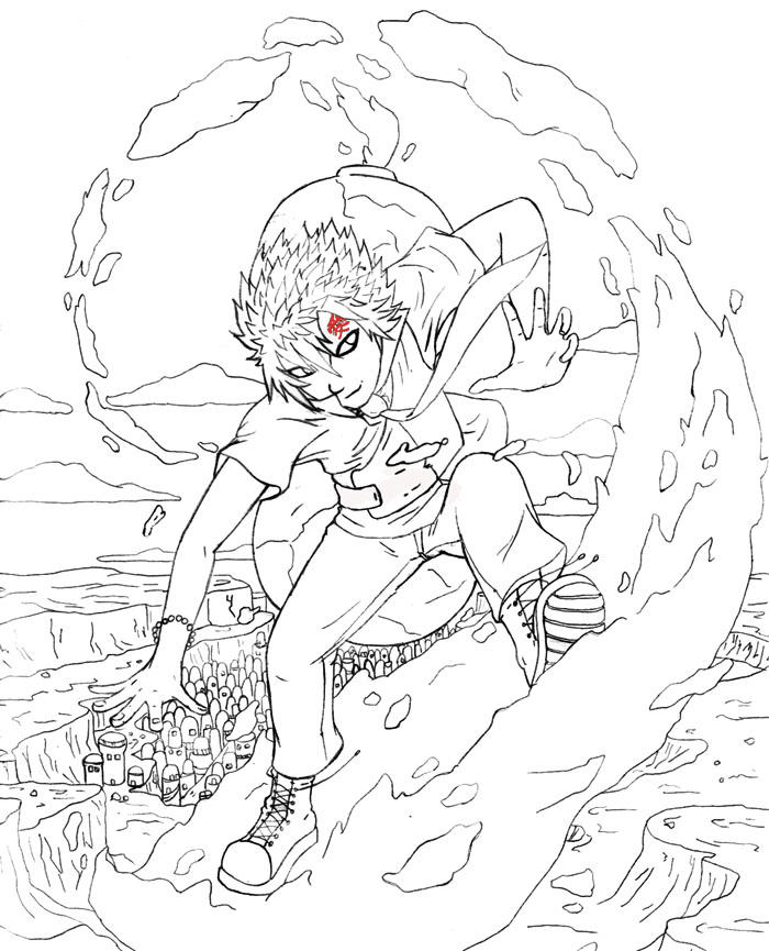 gaara coloring pages - photo#14