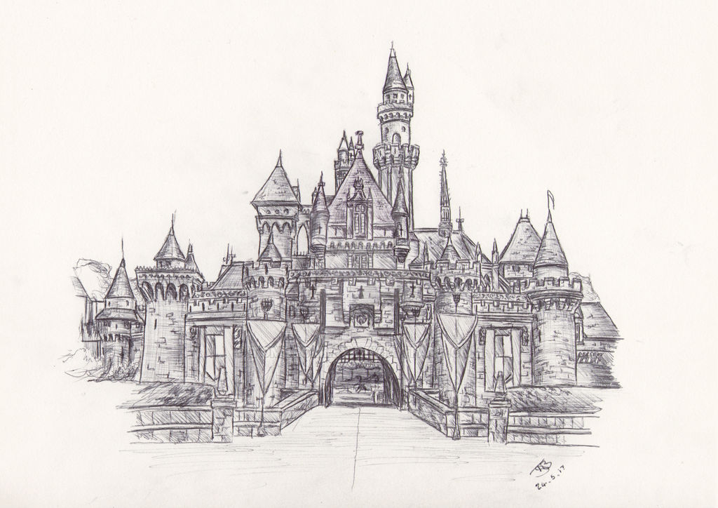 Disneyland Sleeping Beauty Castle Drawing By Tombromley On Deviantart