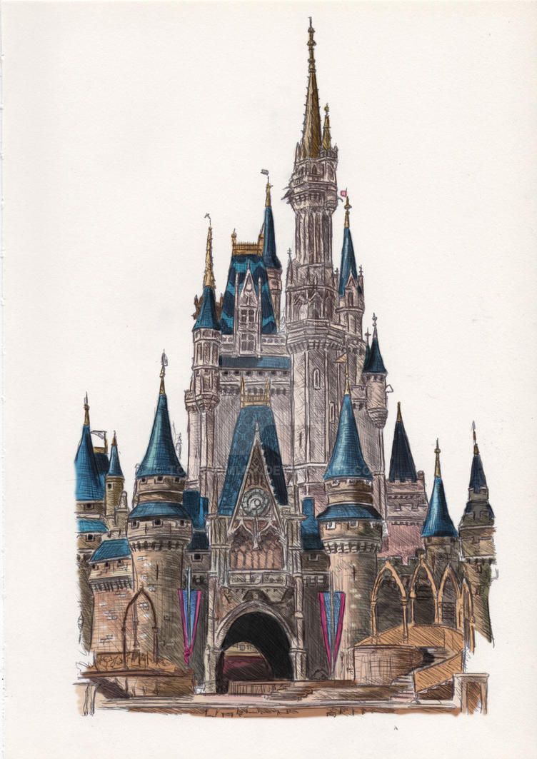 Walt Disney World: Cinderella Castle Colour by TomBromley