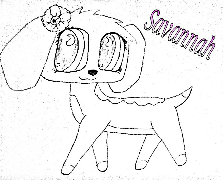 lps savanah   lps popular  by sophieagtv on deviantart Old LPs Collie  Lps Collie Coloring Pages