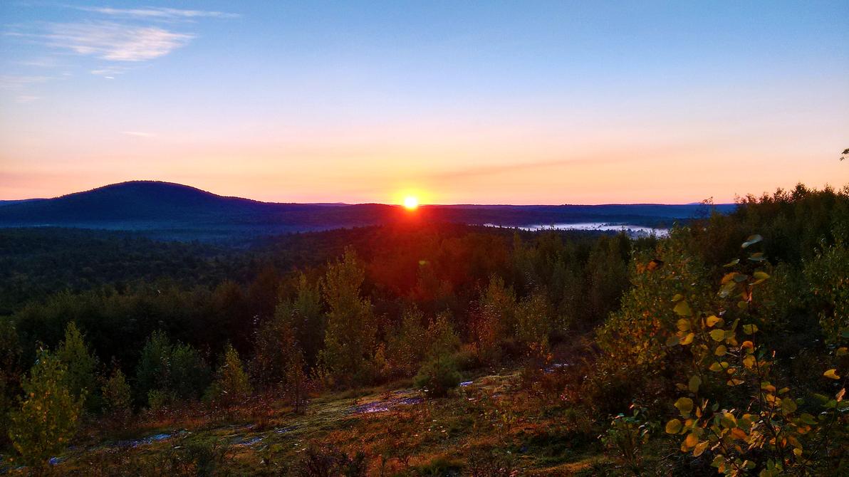 dawn at mount grace by ChasMandala