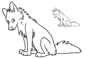 Fellzor - Canine sit by Wolfhome-Freebies