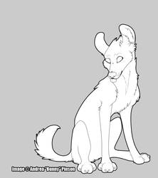 Bunny - Wolf lineart by Wolfhome-Freebies