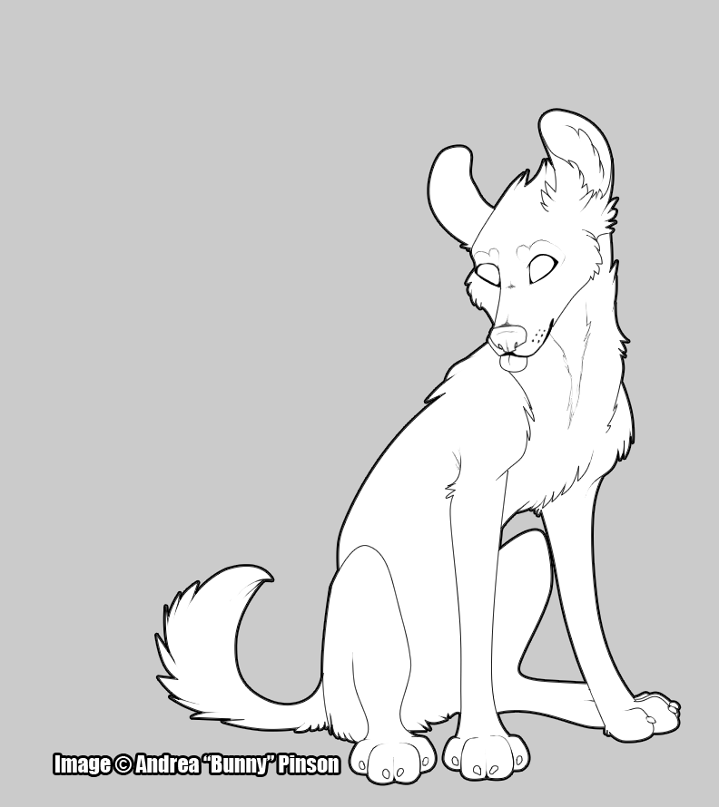 Bunny - Wolf lineart