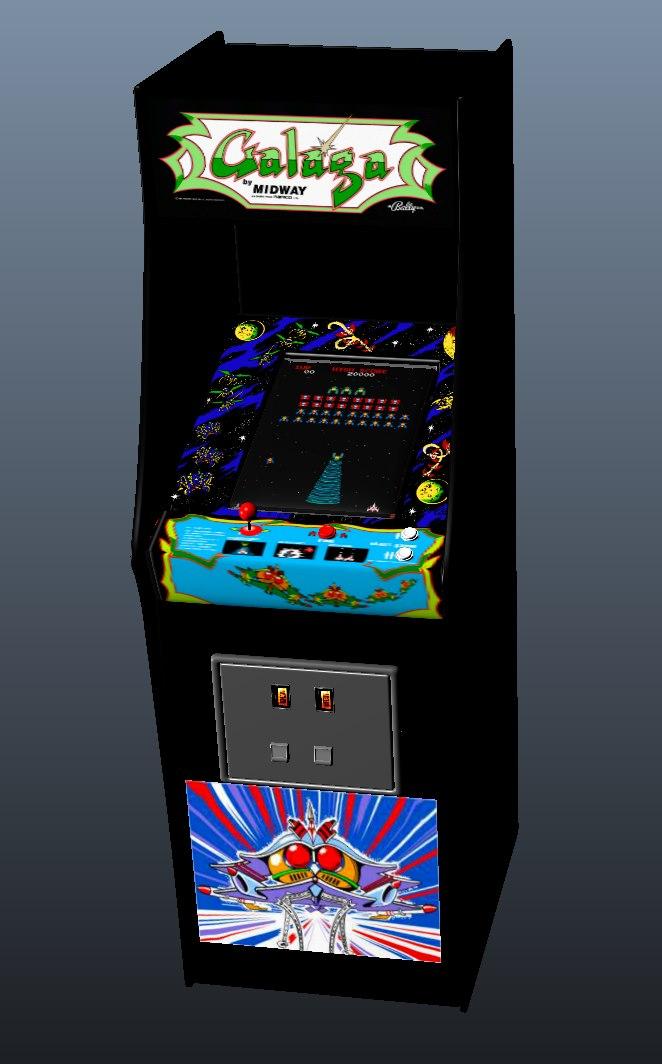 ms pacman galaga arcade machine