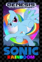 Sonic Rainboom Sega Genesis Box Art by GreenMachine987