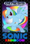 Sonic Rainboom Sega Genesis Box Art