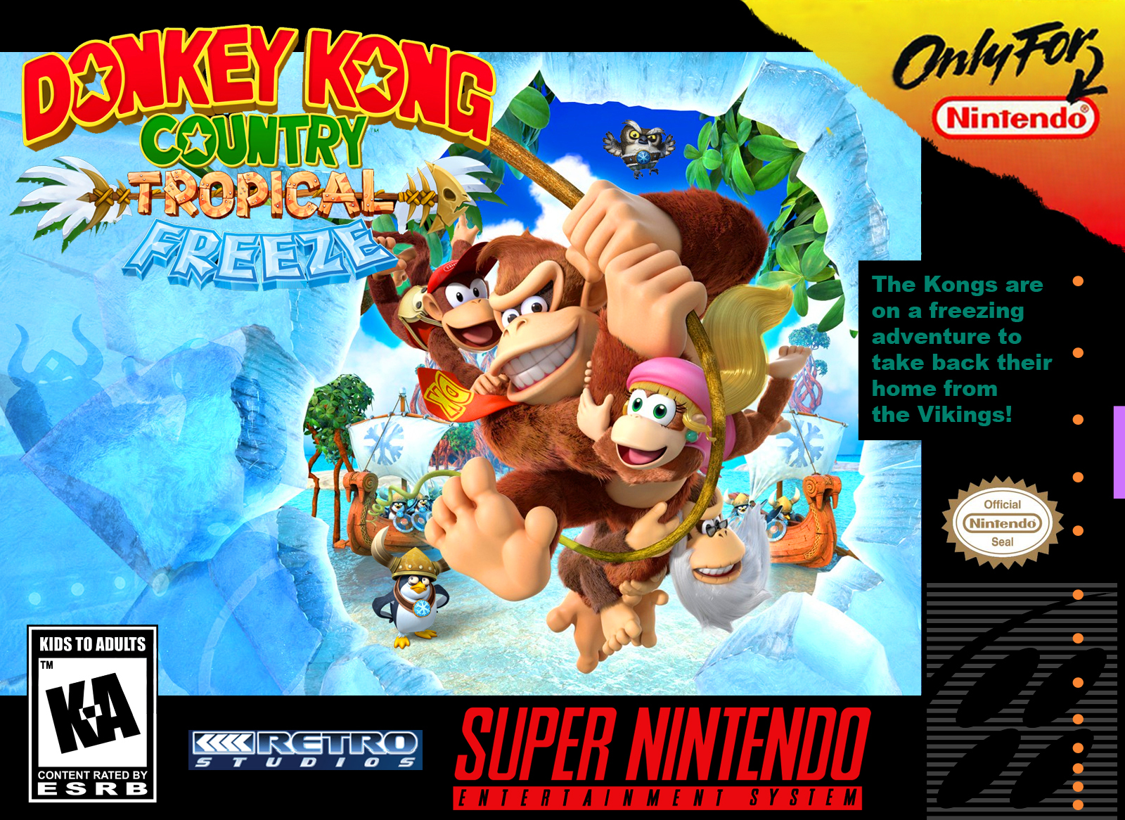 Donkey Kong Country Tropical Freeze Snes Box By Greenmachine987