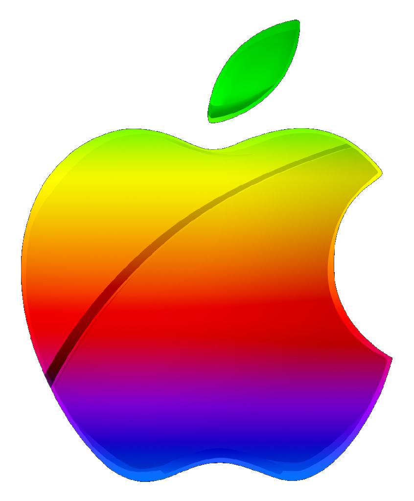 colored modern apple logo vectorgreenmachine987 on deviantart