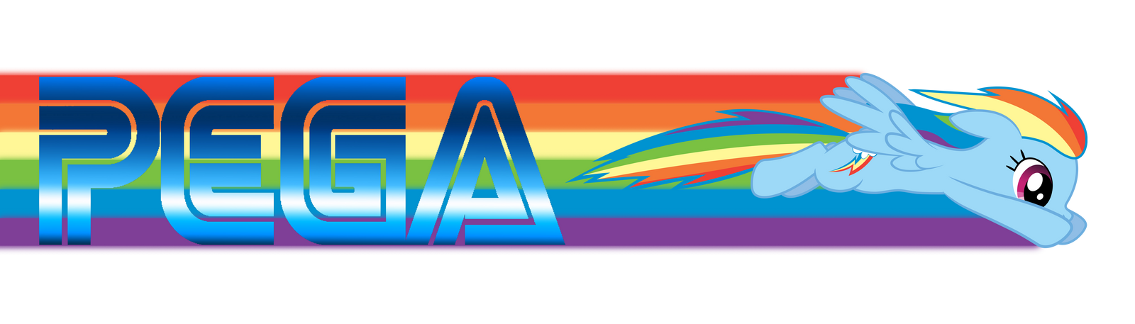 Sonic Rainboom PEGA Logo By GreenMachine987 On DeviantArt Rainbow Dash Vector