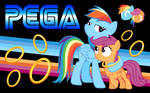 PEGA Sonic Rainboom Wallpaper One