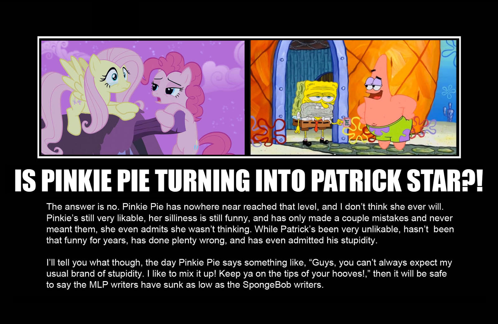 greenmachine987 is pinkie pie turning into patrick star by greenmachine987