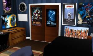 Dorm Room (closet wall)