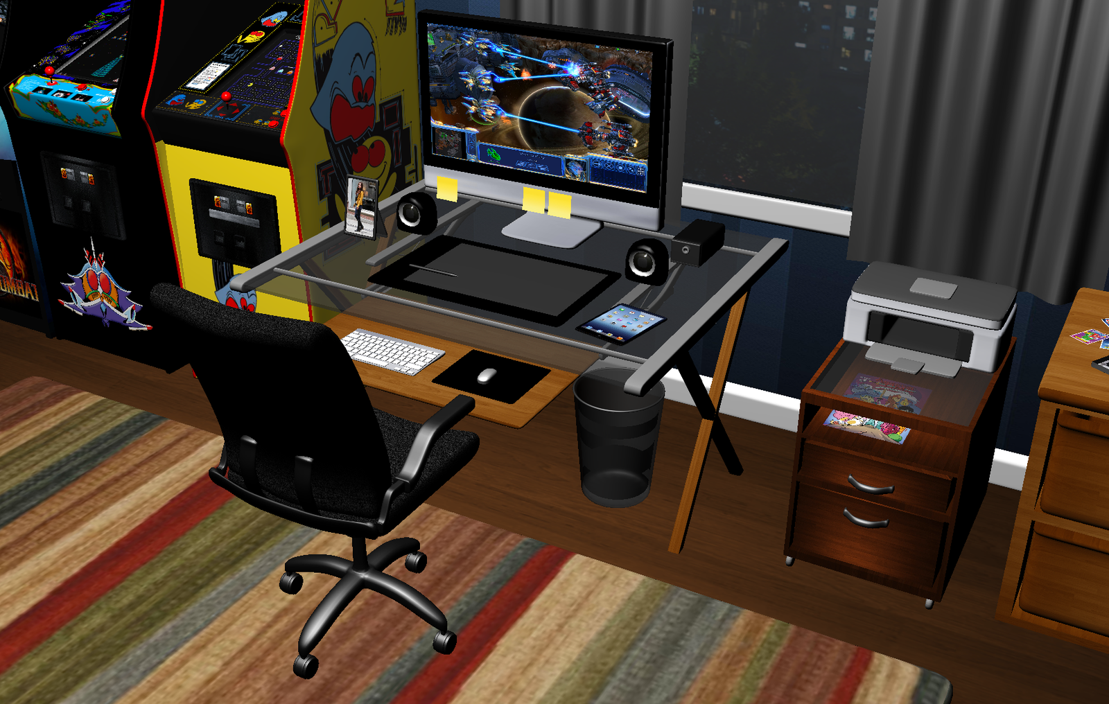 Dorm Room Computer Desk By Greenmachine987